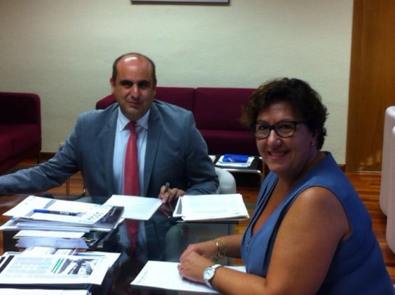 Reunión con el nuevo secretario de educación