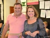 Sonja Dietz y Paco Catalá en el ayuntamiento.