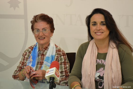 Carmen Bazán with Isabel Gallego