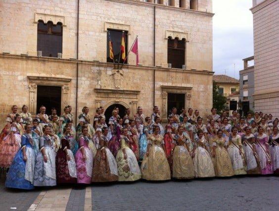 Foto de las Falleras mayores de la Comunitat 2014