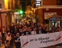 Manifestación en carrer Cop