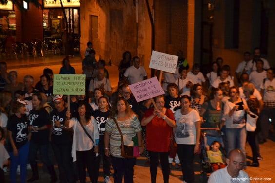 Pancartas en la manifestación