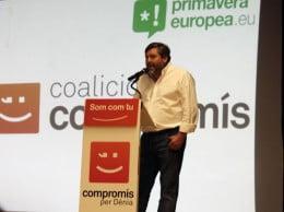 Rafa Carrió candidato a la alcaldía de Dénia