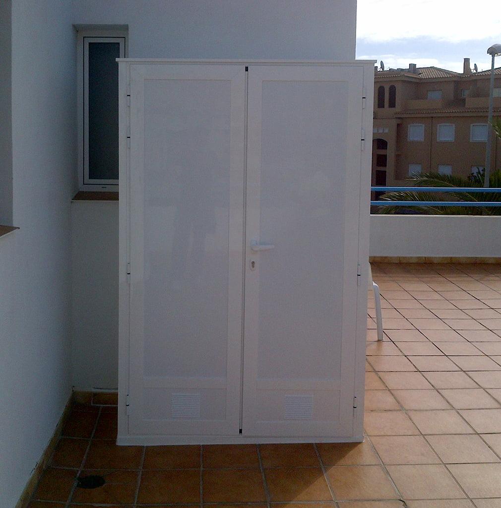 Armario de aluminio aluvent d for Armario para balcon exterior