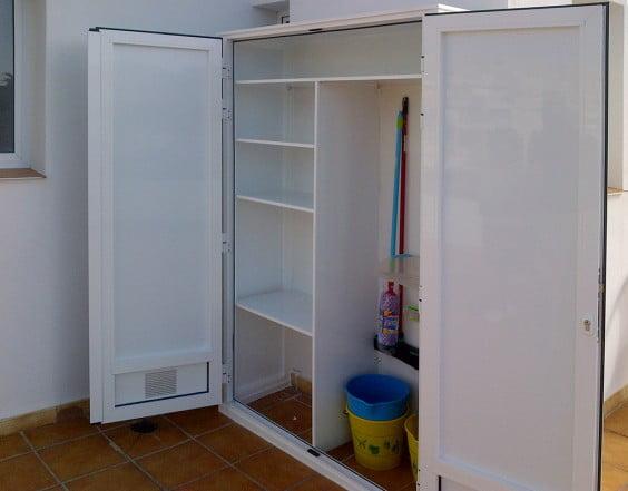 Алюминиевый шкаф открытым Алювент