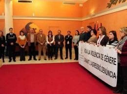 El consistorio dianense en un acto contra la violencia de género