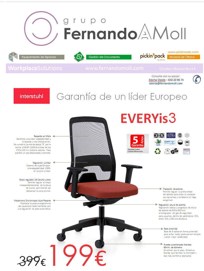 Every is 3 en fernando moll d for Sillas para pc precios