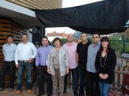 Miembros de CU La Xara con Pepa Font
