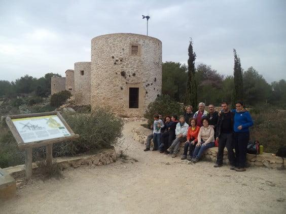 Participantes en la excursión a Les Planes