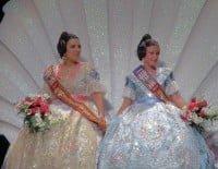 Presentación Darrere del Castell - falleras mayores Maria y Mireia