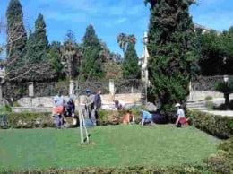 Alumnos de un taller de jardineria de Creama
