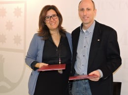 Ana Kringe junto a Jose Francisco Montiel