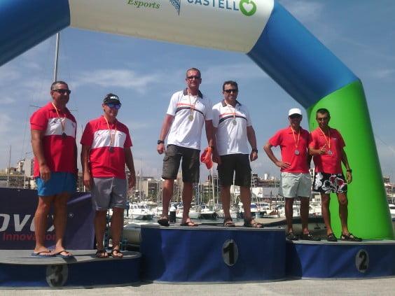Juan Moncho y Juan Carlos Pérez en el podium