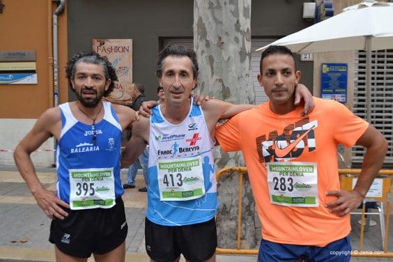 Víctor Fernández, Youssef Atach y Cristian Ferreyra