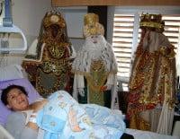 El hospital recibió la visita de los Reyes Magos