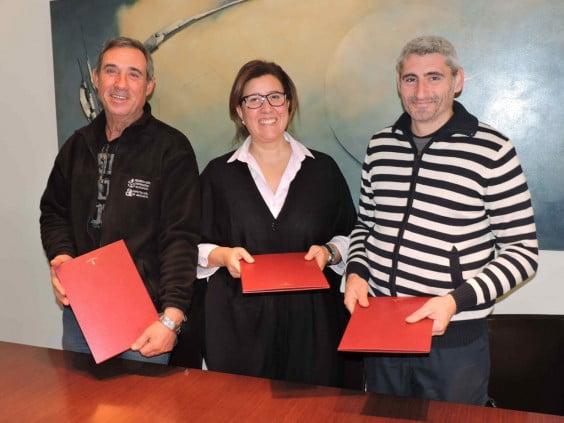 Firma del convenio 2015 con la JLF de Dénia