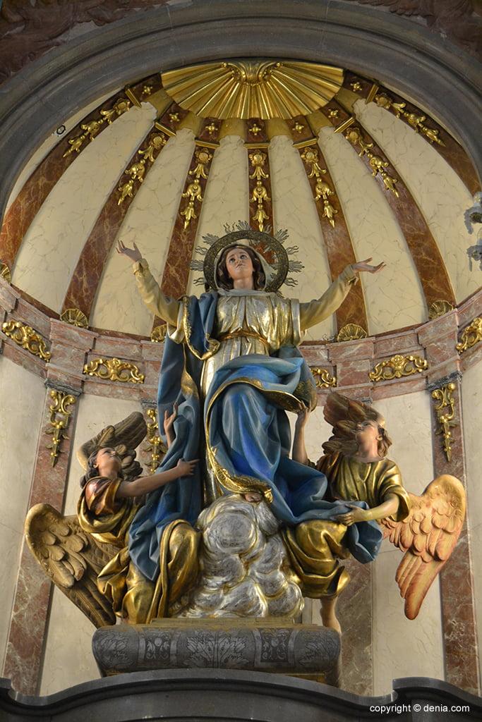 Iglesia de Nuestra Señora de la Asunción – Imagen del altar