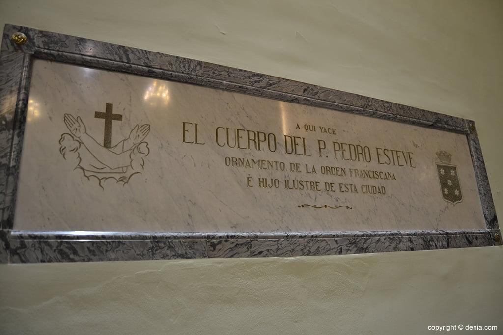 Iglesia de Nuestra Señora de la Asunción – cuerpo del Pare Pere