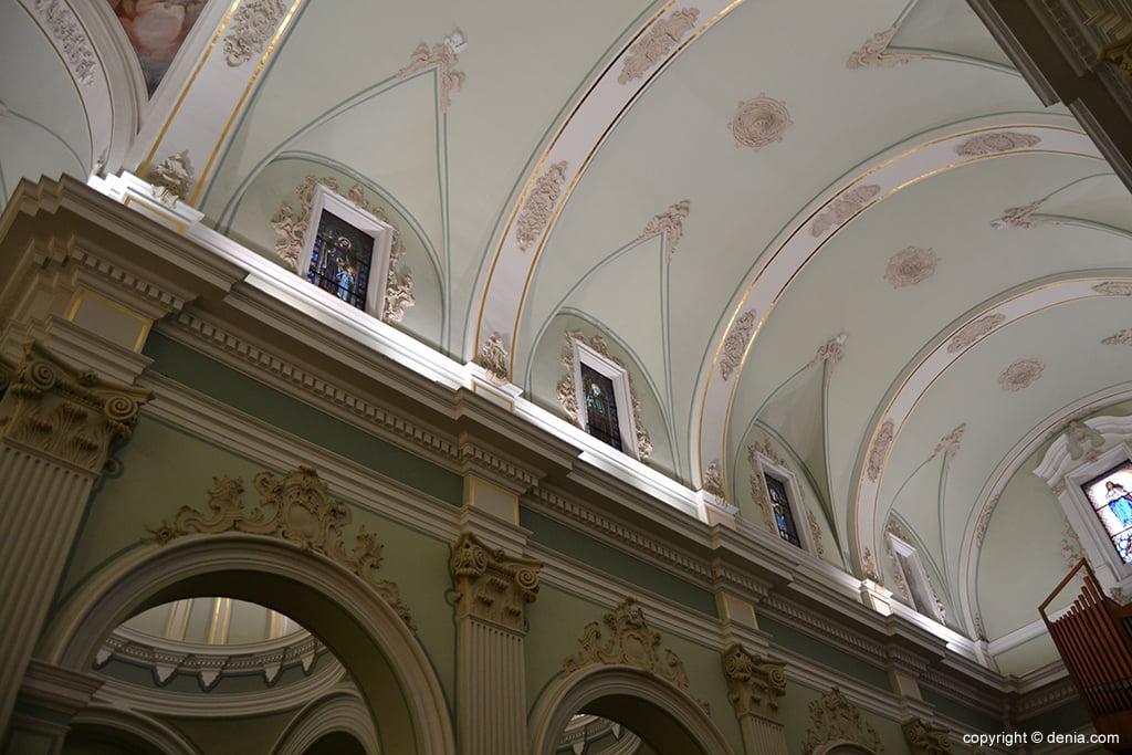 Iglesia de Nuestra Señora de la Asunción – detalle de la bóveda