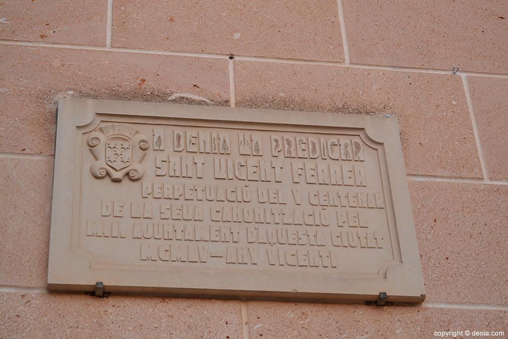 Iglesia de la Asunción – inscripción