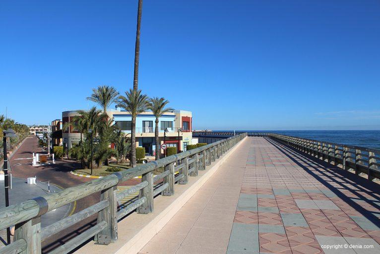 Inicio paseo Marina de Dénia