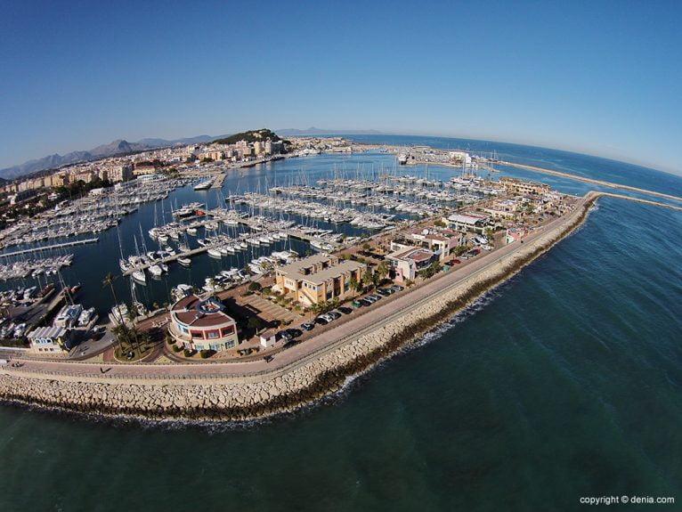 Vista aérea Marina de Dénia