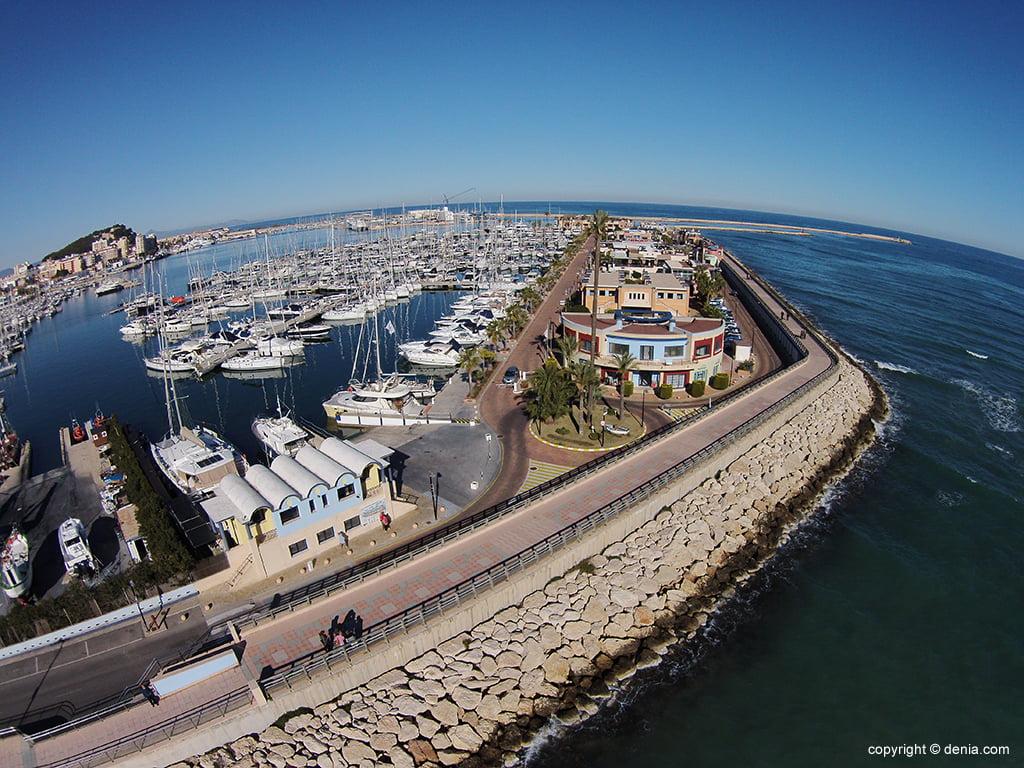 Vista aérea Puerto Deportivo Marina de Dénia