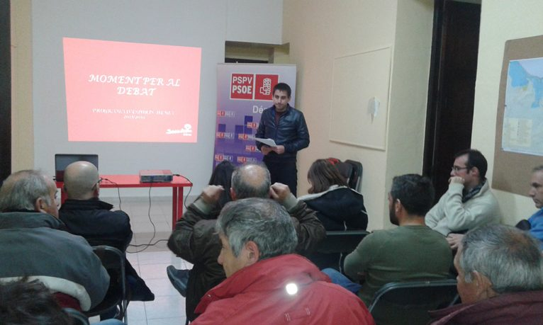 Debate on sport among the Socialists in Dénia