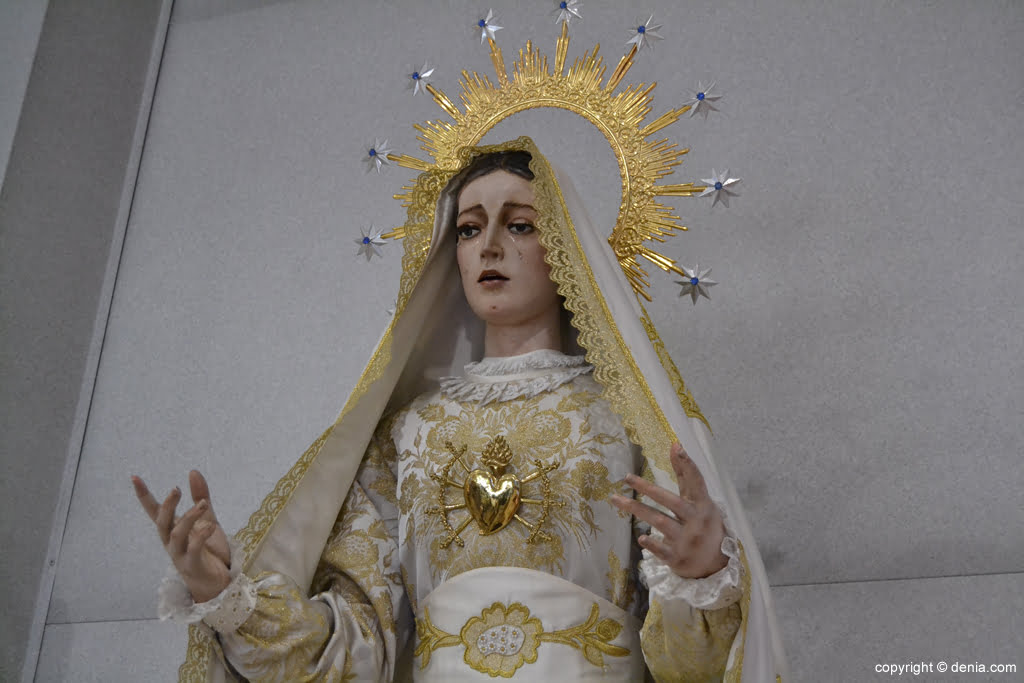 Imagen de La Dolorosa en la Parroquia de San Miguel