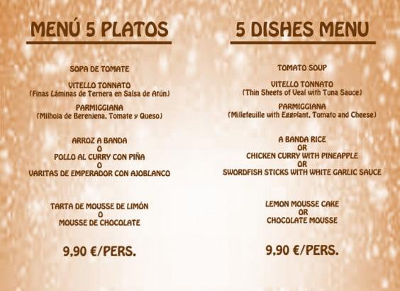 Talianos Restaurant Menu