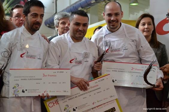 Rubén Cabrera junto a Daniel García y Germán Espinosa