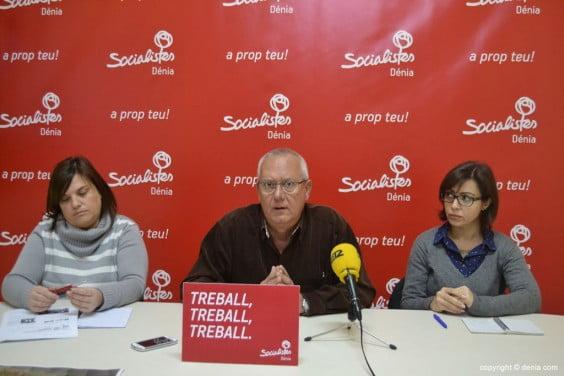 Rueda de prensa del PSOE sobre el Plan General