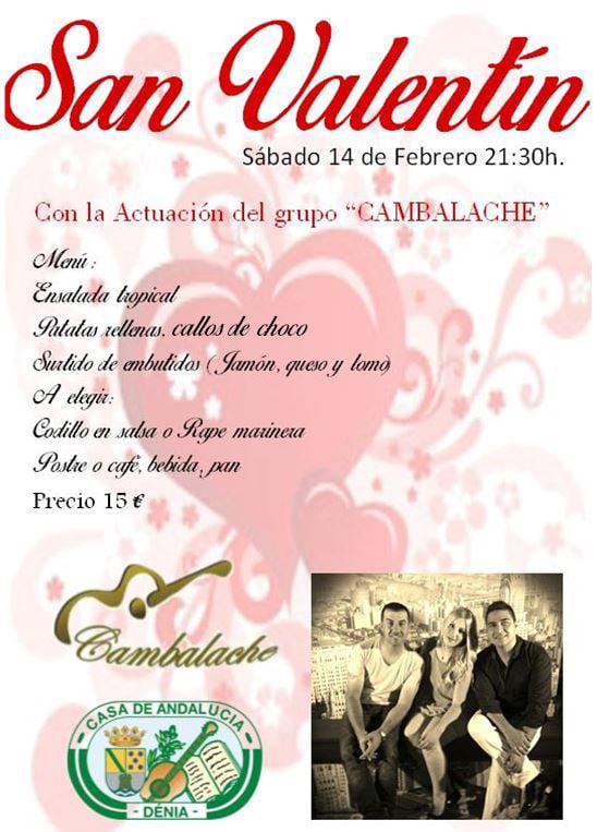 San Valentín en La Casa de Andalucía