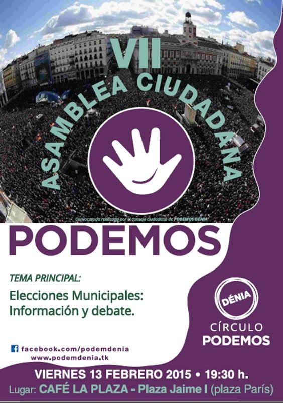 VII Assemblée Podem Dénia