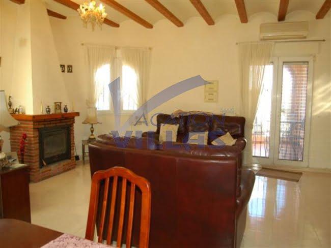 Vakantievilla's woonkamer