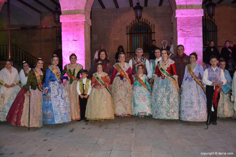 Reception of new presidents falleros - Saladar Falla charges