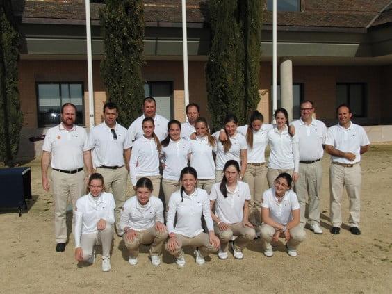 Concentración equipo nacional femenino de golf.