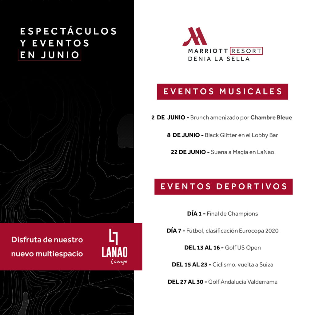 Eventos verano Hotel Dénia Marriott La Sella Golf Resort & Spa