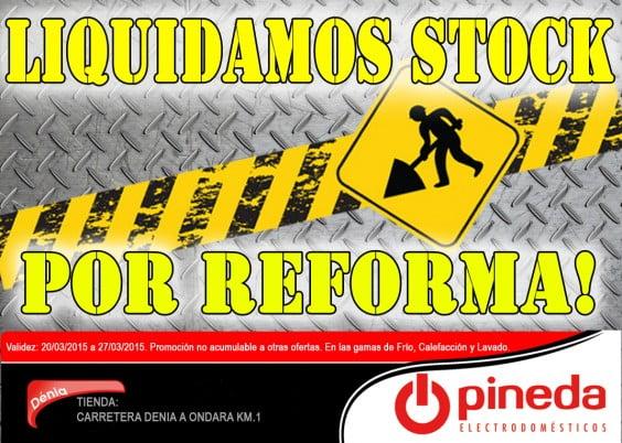 liquidación de stock por reforma