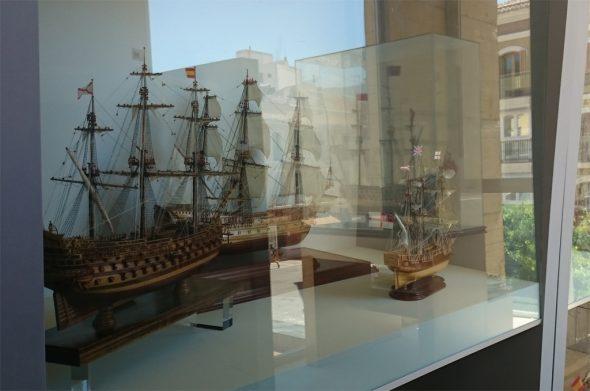 Exposición de maquetas navales en Dénia