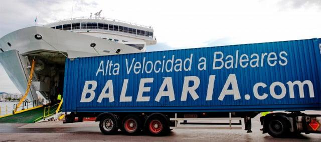 Línea de transporte de mercancías de Balearia