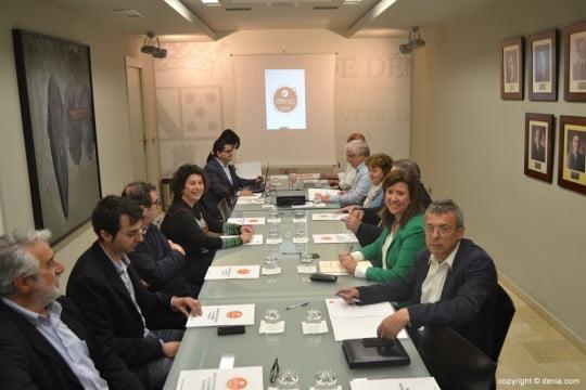 Reunión del equipo redactor de la candidatura de Dénia a Ciudad Creativa de la Gastronomía