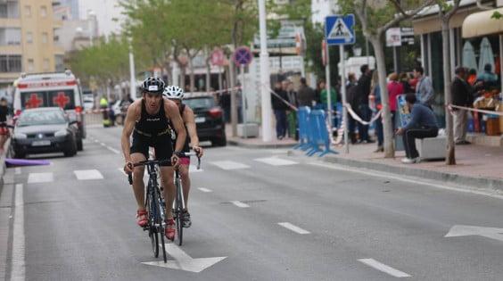 Sergio Alberola en el tramo de bici