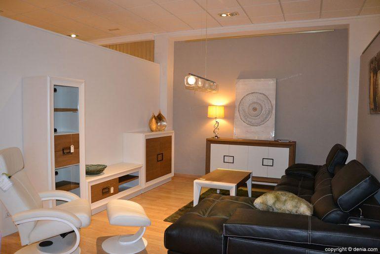 Salón madera y blanco Muebles Martínez