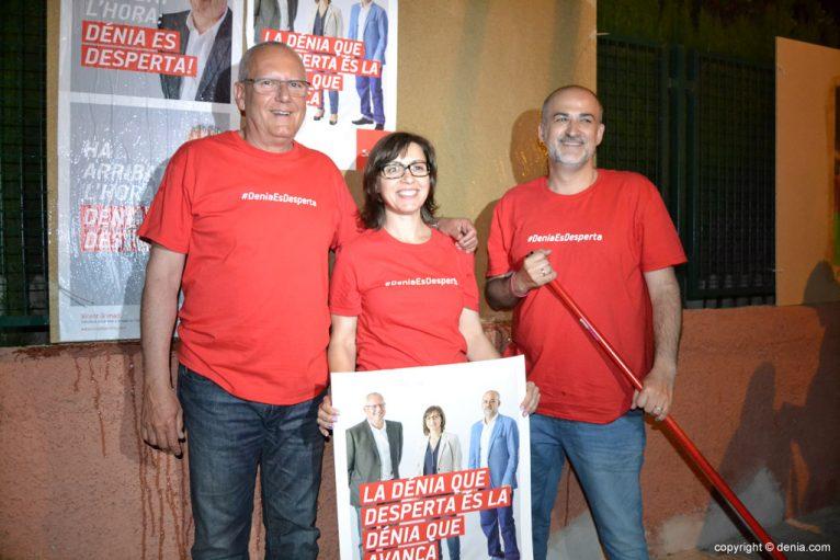 Pegada de carteles elecciones municipales Dénia 2015 - PSOE