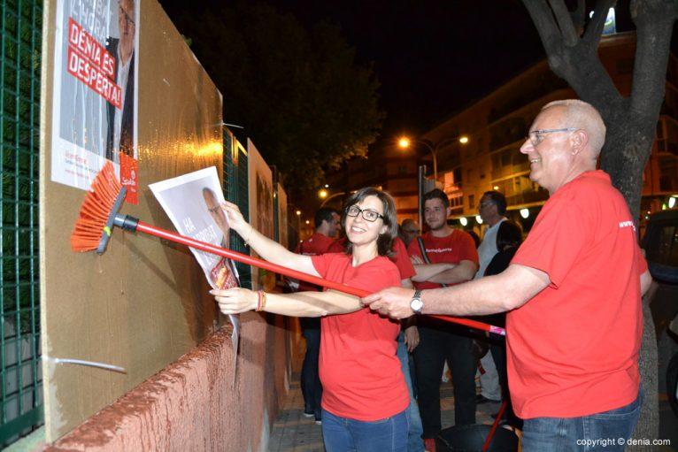 Adoption des affiches des élections municipales Dénia 2015 - PSOE