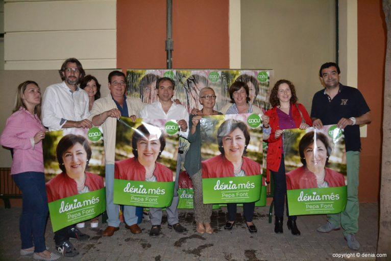 Affiches collées Élections municipales Dénia 2015 - GDCU