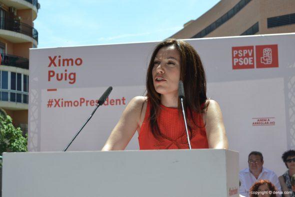 Mitin PSOE Dénia - Rosa Mustafà