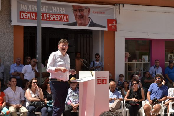 Mitin PSOE Dénia -  Ximo Puig
