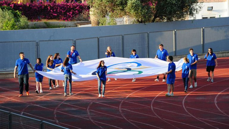 Olympic flag inauguration X Mini Jocs